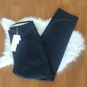 Vince womens navy blue crop pants size 4 NWT $245